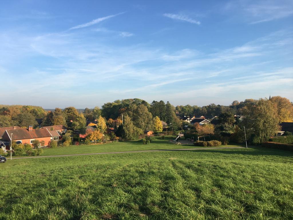 Park med lekplats i Billinge